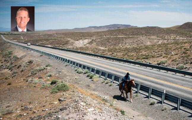 The Highway 50 in Nevada. Picture courtesy: Reuters; Inset: Mark Hutchinson. Picture courtesy: Mail Today