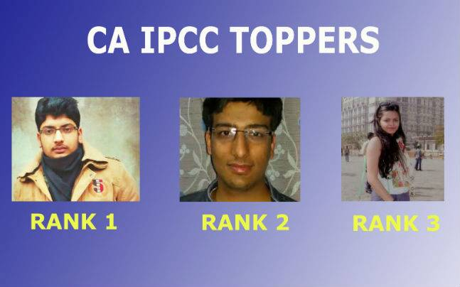 ICAI CA IPC Results 2015: Top three rank holders