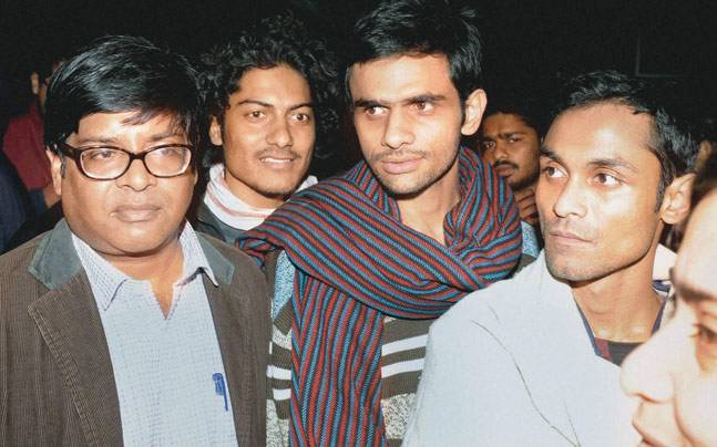 Umar Khalid and Anirban Bhattacharya