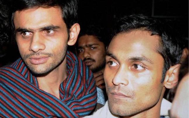 Umar Khalid and Anirban Bhattacharya