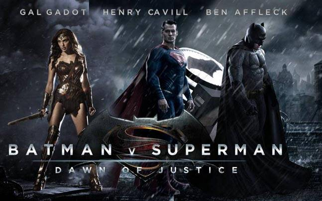 Gal Gadot Henry Cavill And Ben Affleck In Batman V Superman Dawn Of Justice Poster
