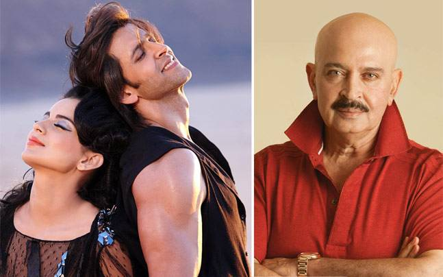 (L-R) Kangana, Hrithik and Rakesh Roshan