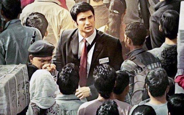 Sushant Singh Rajput in a poster of MS Dhoni The Untold Story