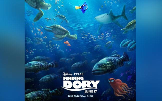 A new poster of the film, Finding Dory