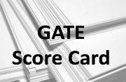 GATE 2016: Score card