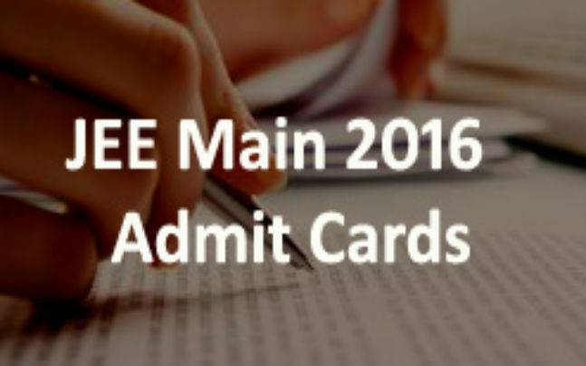JEE Main 2016: Download your admit cards from here