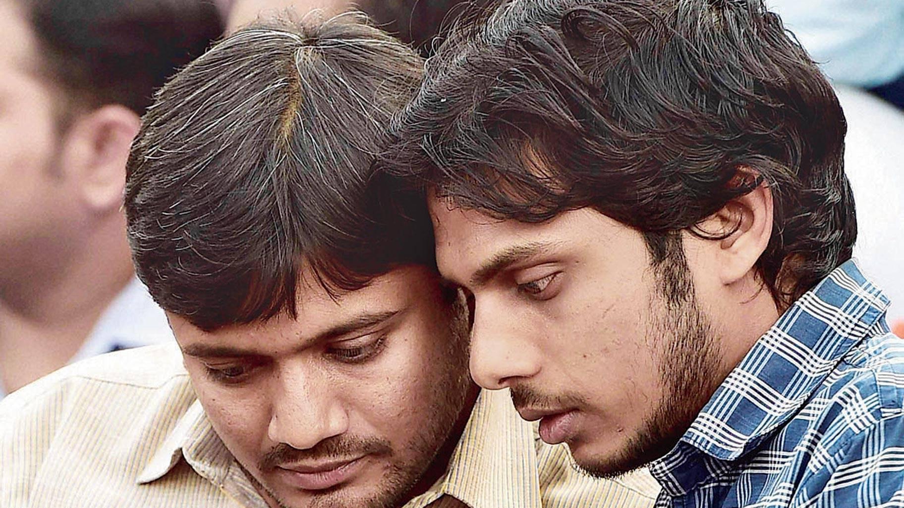(Left) Kanhaiya Kumar