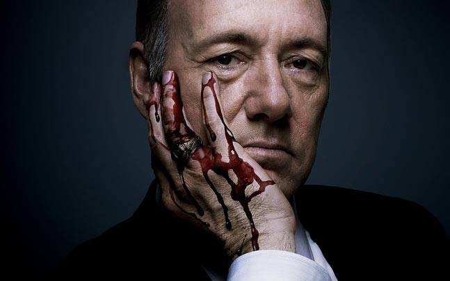 Kevin Spacey in a promotional poster of House of Cards.