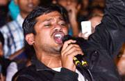Kanhaiya Kumar addresses students at JNU after release from jail
