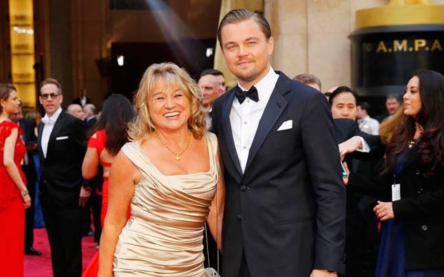 Leonardo DiCaprio (R) with his mother Irmelin Indenbirken