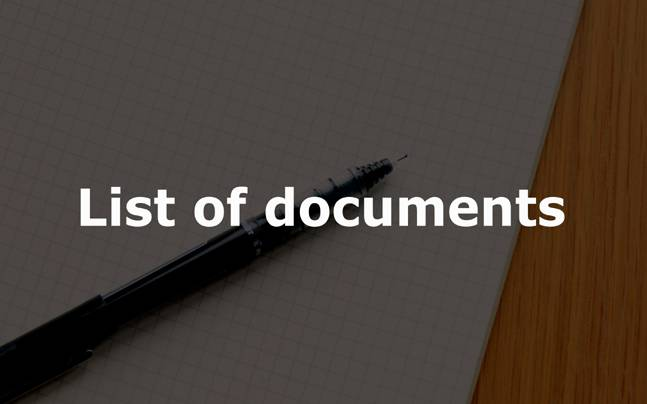 IBPS Clerk V: List of documents required