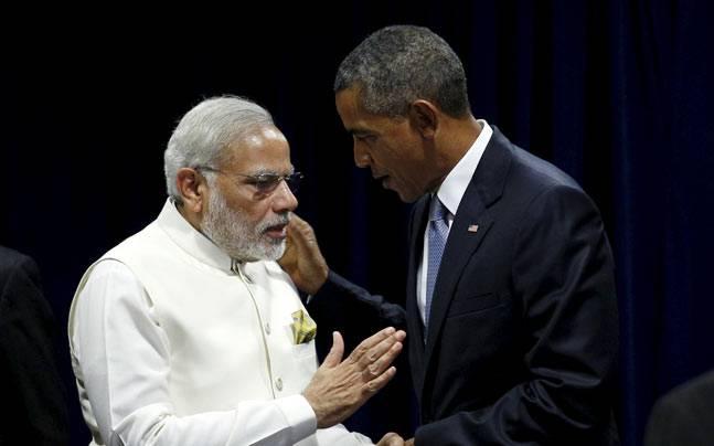 Barack Obama with PM Modi