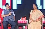Piyush Goyal, Nitin Gadkari and Nirmala Sitharaman at India Today conclave 2016
