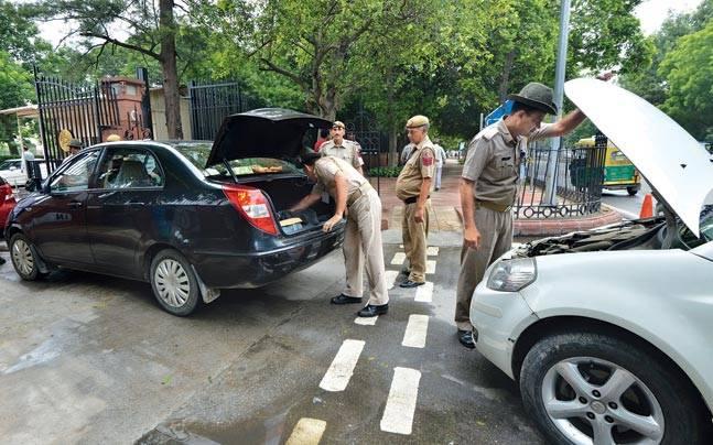 Police have deployed teams at all sensitive areas in Delhi.