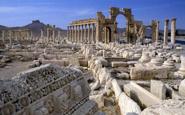 Ruins of Palmyra city
