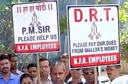 Kingfisher employees stage protest against Vijay Mallya, seek PM intervention