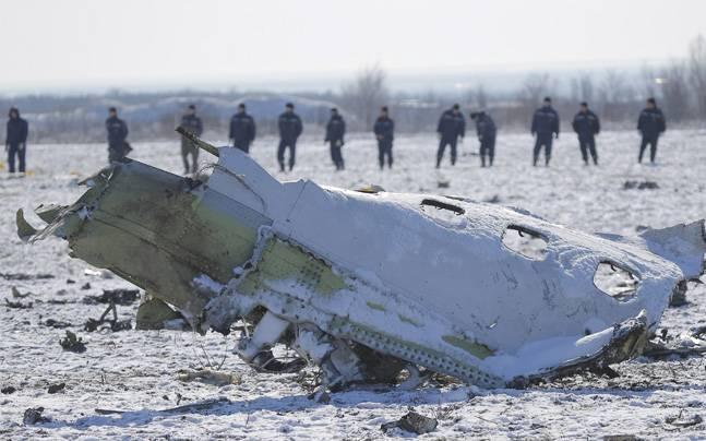 Flydubai aircraft debris. Photo: Reuters