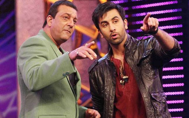 Ranbir Kapoor (R) will be stepping into Sanjay Dutt's shoes for the latter's biopic
