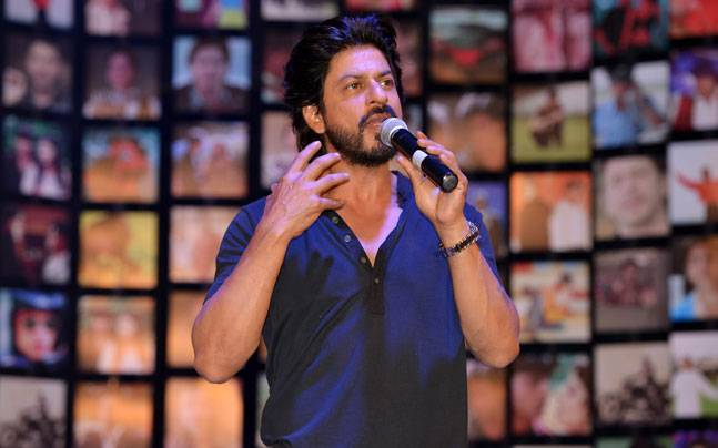 Shah Rukh Khan at the trailer launch of Fan. Photo: Milind Shelte, India Today