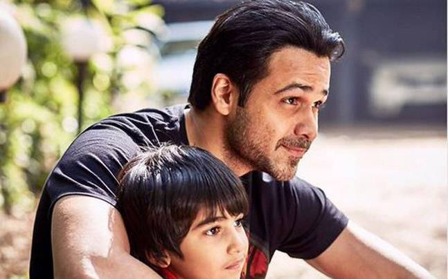 """""""I let go of any self-pity as I saw my son battle with cancer,"""" said Emraan. Picture courtesy: Emraan Hashmi/Twitter; Rohan Shreshta"""