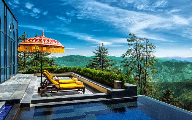 Outdoor pool at Wildflower Hall, Shimla. Picture courtesy: OberoiHotels.com