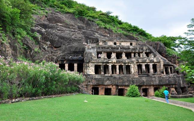 The Undavalli Caves in Andhra Pradesh. Picture courtesy: Wikimedia/Ramireddy.y/Creative Commons