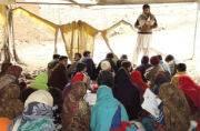 70-year old engineer teaches underprivileged children in makeshift tents