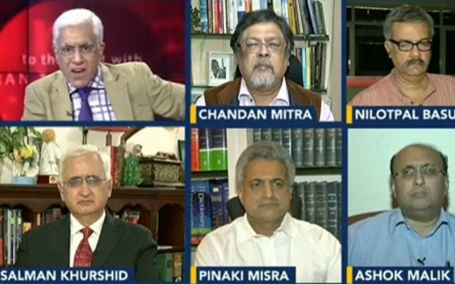 Panelists at Karan Thapar's show