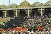 Stage set for Sri Sri's mega event on Yamuna floodplains in Delhi