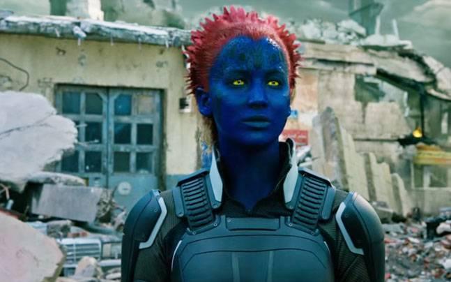 Jennifer Lawrence in a still from X-Men Apocalypse