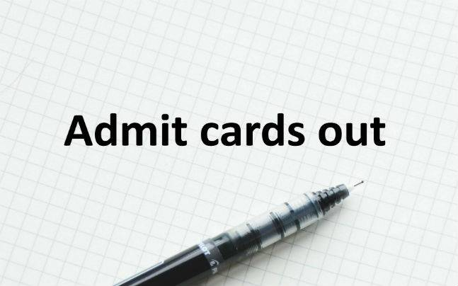 WBJEE 2016: Admit cards