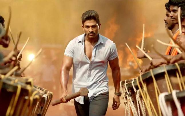 Allu Arjun in a still from Sarrainodu