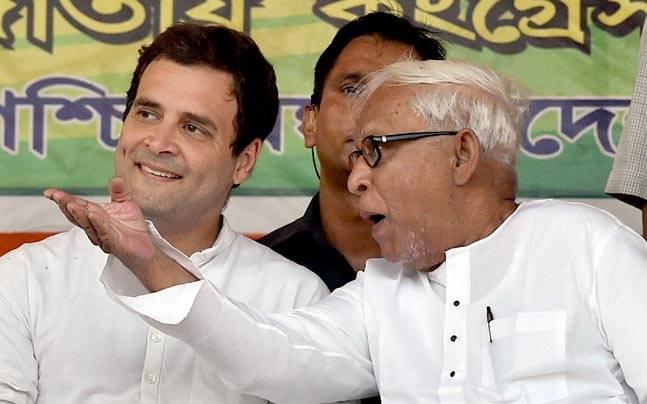 Rahul Gandhi and Buddhadeb Bhattacharjee