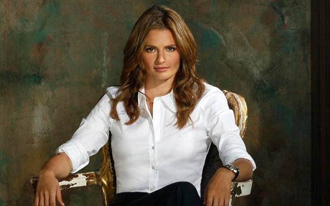 Stana Katic in a still from Castle.