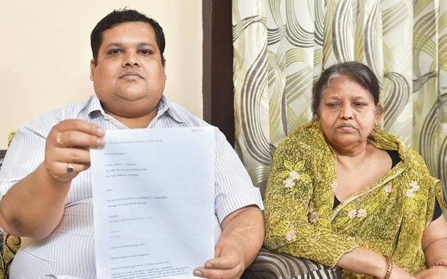 Praveen Agarwal and his mother Kamla Devi Agarwal.