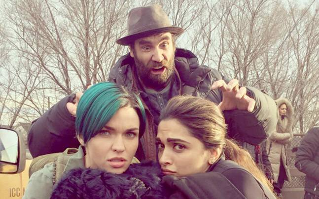 Ruby Rose (L), Rory McCann and Deepika Padukone