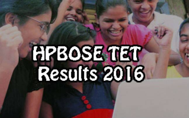 HPBOSE TET Results 2016: Declared at http://hpbose.org