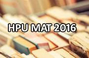 HPU MAT 2016: Important dates released
