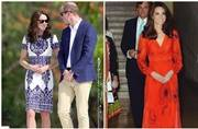 Kate Middleton goes from ravishing in red in Bhutan to wow in white at the Taj Mahal