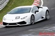 Lamborghini Huracan Superleggera comes out of its curtain