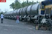 Train with 5 lakh litres of water reaches drought-hit Latur in Maharashtra