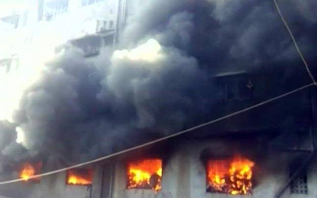 Fire at a residential complex in Bhiwandi