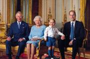 Prince George poses for his first stamp ahead of Queen