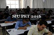 SIU PET 2016: Check out the exam dates