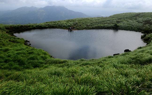 Heart Shaped Lake in Karnataka. Picture courtesy: www.keralatourism.org