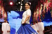 With the stunning Sonakshi Sinha on board, Anita Dongre's LFW show was a colourful, musical affair
