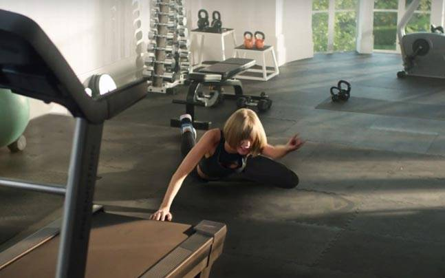 Watch Taylor Swift take a tumble for Apple Music's new ad. Picture courtesy: YouTube