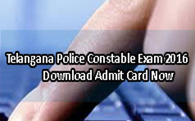 Telangana Police Constable Exam 2016: Download admit cards now