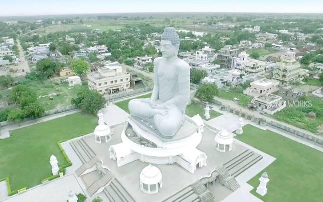 Dhyana Buddha Statue in Amravati.