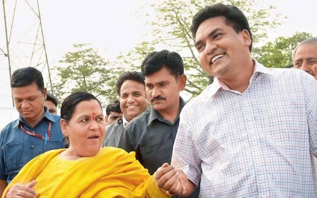 Uma Bharti with Kapil Mishra